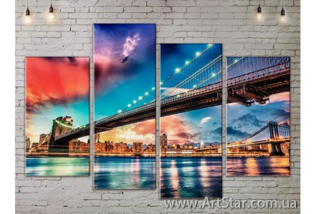 Модульные Картины, Город, Art. SITY787217