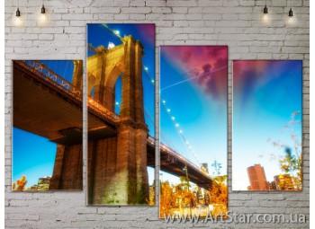Модульные Картины, Город, Art. SITY787221