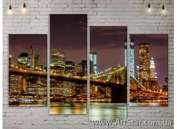 Модульные Картины, Город, Art. SITY787231