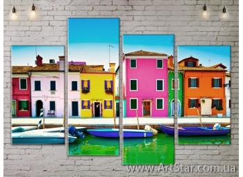 Модульные Картины, Город, Art. SITY787239