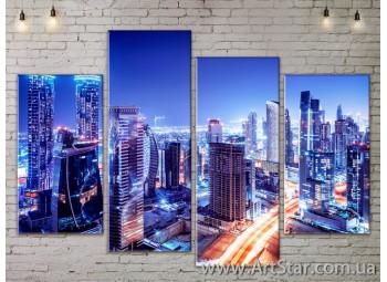 Модульные Картины, Город, Art. SITY787257