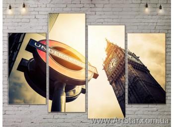 Модульные Картины, Город, Art. SITY787263