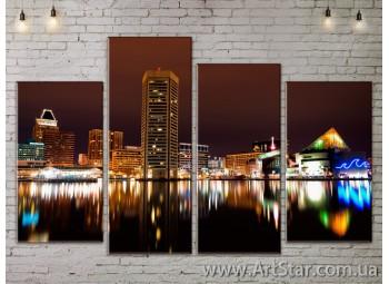 Модульные Картины, Город, Art. SITY787267
