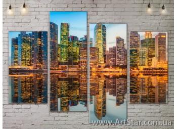 Модульные Картины, Город, Art. SITY787283