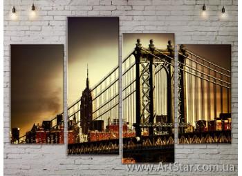 Модульные Картины, Город, Art. SITY787299