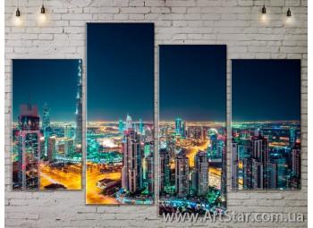 Модульные Картины, Город, Art. SITY787323