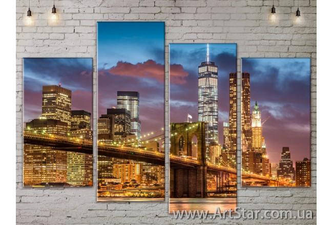 Модульные Картины, Город, Art. SITY787325