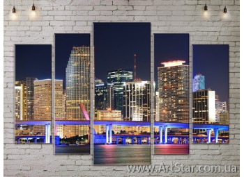 Модульные Картины, Город, Art. SITY787356