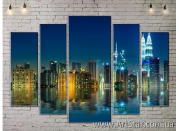 Модульные Картины, Город, Art. SITY787382
