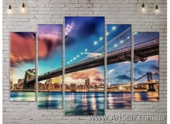 Модульные Картины, Город, Art. SITY787390