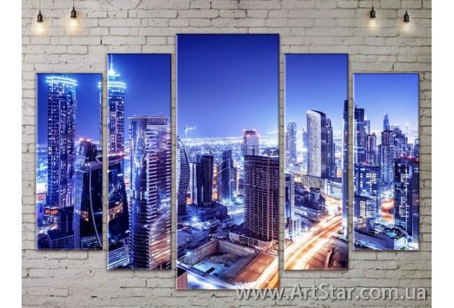 Модульные Картины, Город, Art. SITY787428