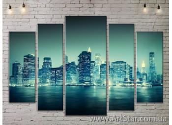 Модульные Картины, Город, Art. SITY787430