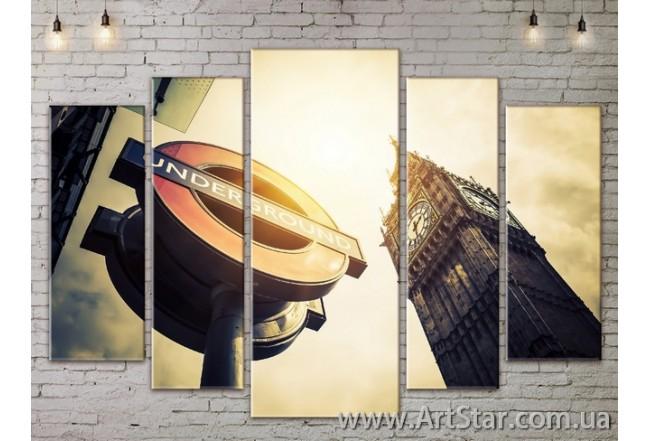 Модульные Картины, Город, Art. SITY787434