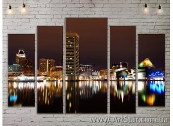 Модульные Картины, Город, Art. SITY787438