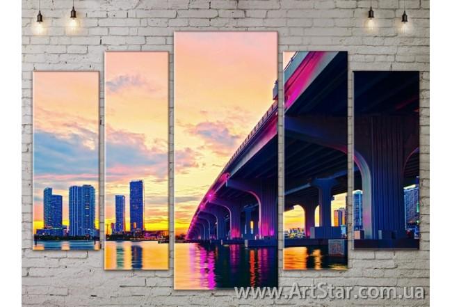 Модульные Картины, Город, Art. SITY787462