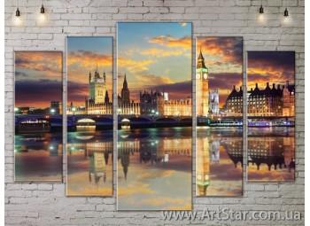 Модульные Картины, Город, Art. SITY787476