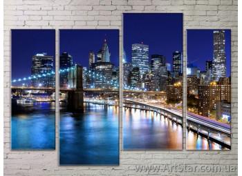 Картина Модульная Город, Art. STRM778033