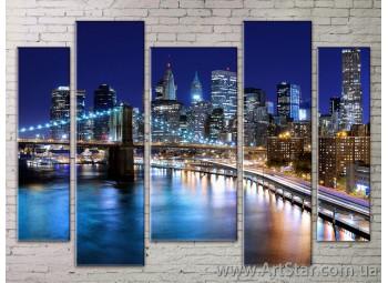 Картина Модульная Город, Art. STRM778035