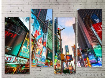 Картина Модульная Город, Art. STRM778071