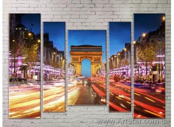 Картина Модульная Город, Art. STRM778077
