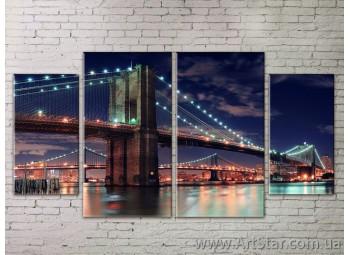 Картина Модульная Город, Art. STRM778079