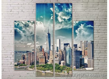 Картина Модульная Город, Art. STRM778107