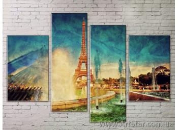 Картина Модульная Город, Art. STRM778131