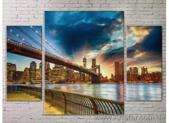 Модульные Картины Города, Art. STRM778260