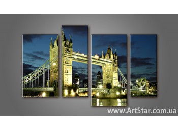Модульная картина Панорама Лондона (4)