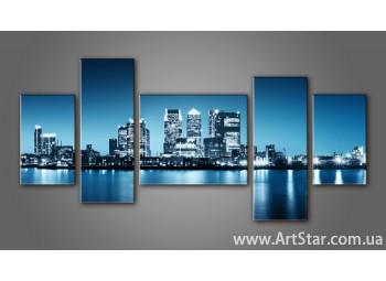 Модульная картина Панорама города (5) 6