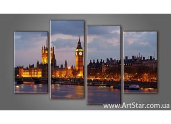 Модульная картина Панорама Лондона (4) 4
