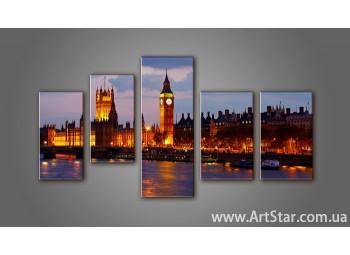 Модульная картина Панорама Лондона (5) 6