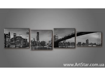 Модульная картина Бруклинский мост (4) 6