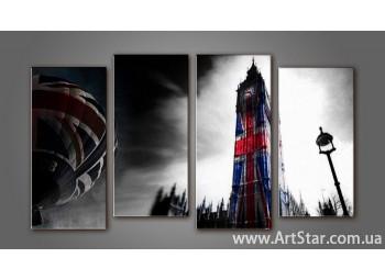 Модульная картина Панорама Лондона (4) 8