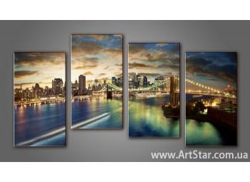 Модульная картина Бруклинский мост (4) 8