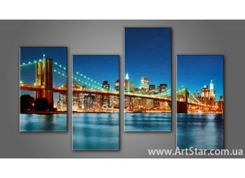 Модульная картина Бруклинский мост (4) 9