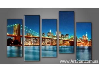 Модульная картина Бруклинский мост (5) 9