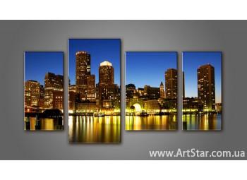 Модульная картина Панорама города (4) 11