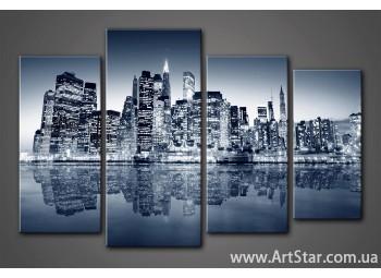 Модульная картина Город (4)