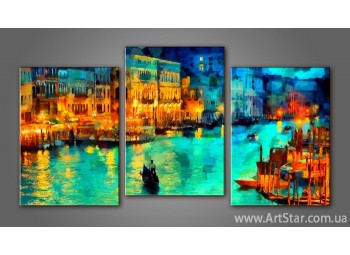 Модульная картина Панорама Венеция