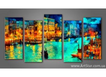 Модульная картина Панорама Венеция (5)