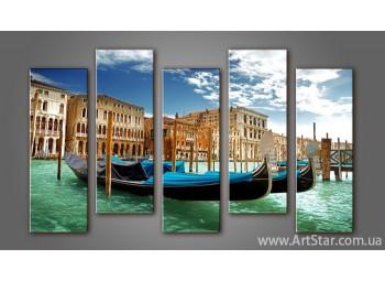 Модульная картина Панорама Венеция (5) 2