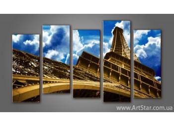 Модульная картина Панорама Париж (5)
