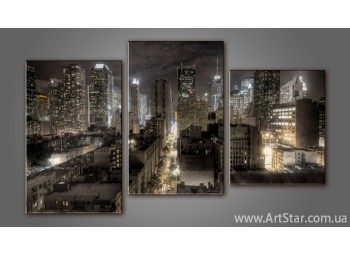 Модульная картина Панорама Города 7