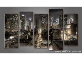 Модульная картина Панорама Город (5) 2