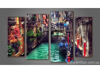Модульная картина Панорама Венеция (4) 3