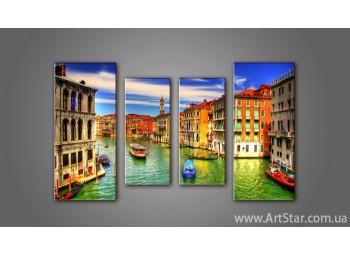 Модульная картина Панорама Венеция (4) 4
