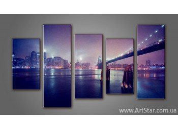 Модульная картина Панорама Бруклинский Мост (5)